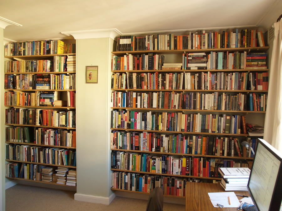 Wall Mounted Timber Bookshelves